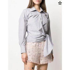 IRO tie-fastening striped shirt-NWT-Size:34